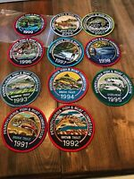 PA Fish and Boat Commission Patches Detailed Set Trout 1991-2001 Lot Rare NEW