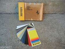 FERRARI DEALER CARPET & PAINT SAMPLES IN EXCELLENT SHAPE