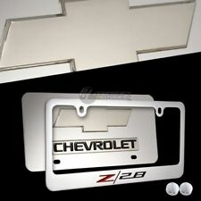 CHEVROLET CAMARO Z28 Mirror Stainless Steel License Plate Frame-2pc Front & Back