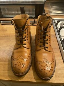 Loake Bedale Tan UK Size 8 Brogue Boots