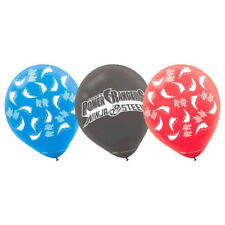 POWER RANGERS PARTY SUPPLIES LATEX BALLOONS PACK OF 6