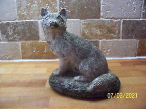 Lovely Old Concrete Garden Ornament - Mr Fox.