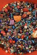 """GRAB BAG"" 1 LB Lot Of Beads Pearl Wood Acrylic Seed Stone Glass AND MORE!"