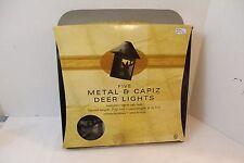 5 metal Capiz Deer Lights Lanterns Christmas Patio Indoor Outdoor cabin