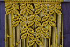 Home Decorative Macrame Wall Hanging yellow