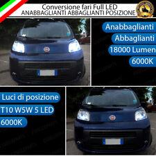 CONVERSIONE FARI FULL LED FIAT QUBO 6000K LED CANBUS + LUCI DI POSIZIONE