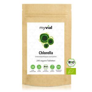 Bio Chlorella Tabletten Presslinge 240 Stück vegan 500mg | 40-Tage-Vorrat