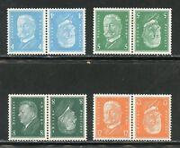 GERMANY DEUTCHES REICH TETE-BECHE PAIRS SCOTT#367a/68a,374a & 378a  MINT LH