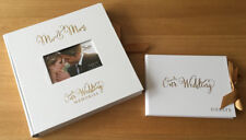 NEW Gold Foil Wedding Guest Book + Large Photo Album Collage Scrapbook Gift Set