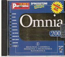 OMNIA ENCLOPEDIA MULTIMEDIALE-1 BIOLOGIA CHIMICA MEDICINA INGEGNERIA MATE CD-ROM
