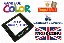 Game Boy Color Colour Replacement GLASS Screen Lens GameBoy GBC with Adhesive