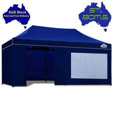 Gazebo 3x6m Instahut Pop Up Outdoor Folding Marquee Tent Canopy Party - BLUE