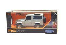 Welly 1:24 Land Rover Defender Télécommande Voiture Argent - 84005WSILVER
