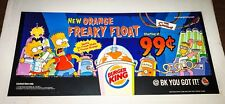 The Simpsons BURGER KING ORANGE FREAKY FLOAT SIGN Halloween BK 2002 THOH Bart