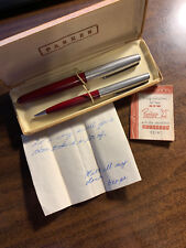 "Vintage Parker ""21"" Fountain Pen and Pencil Set In Box"