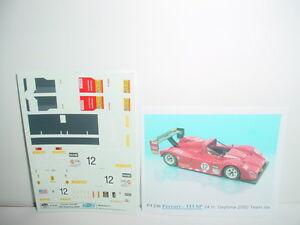 Decal Ferrari 333 Sp 24H Daytona 2000 #12 Team Risi BBR 1/43 COD.PJ230