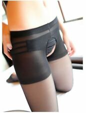 Women Ladies Sexy Open Crotch Crotchless Sheer Pantyhose Tights Silk Stockings P