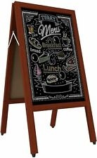 GUOHONG A Frame Chalkboard Sign Waterproof Double Sided Pavement Display Stand