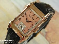 1948 Vintage Bulova, Rosa Gold Filled Custodia, Fantastico Salmone Dial, Servite