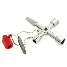 Kreuz Schaltschrank Schlüssel 6 in 1 Schaltschrankschlüssel Quadrat Dreieck