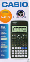 Casio FX-991EX FX991EX Classwiz Scientific Calculator, LCD Display 552 Functions
