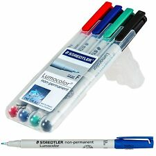 Staedtler Lumocolor Non-Permanent 316WP4A6. 0.6mm Fine Point Marker, 4 Color Set