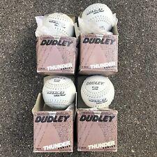 Lot 4 New White Dudley Thunder Heat Slow Pitch Softballs Wt-11 Nd Women