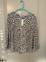 Stitch FIX Collective Concept Warner Lattice Detail Blouse Size Medium With Tags