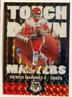 🔥Patrick Mahomes II 2020 Mosaic Silver Prizm Parallel Touchdown Masters #TM8🔥