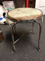 "Antique Industrial Stool / Chair 18"" Tall"