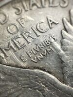 1920 Standing Liberty Quarter - Mint Error Rare Major Reverse Die Clash - Y3314