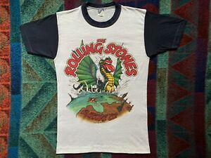 NEW 1982 Rolling Stones Europe 82 Tour Shirt! Double Sided Band T-Shirt! Sz S/M!