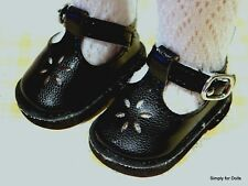 """**SALE** BLACK T-STRAPS DOLL SHOES fits American Girl 14.5"""" WELLIE WISHERS"""