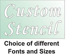 CUSTOM STENCIL with your text, selection of font styles and sizes