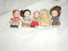 Group Of 5 Pee Wee Dolls With 2 Rare Boys