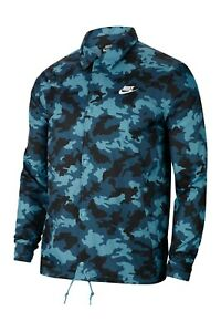 NWT Nike Mens Camouflage Print Coaches' Jacket Loose Fit $80  Size: M/L