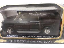 ●NEW 1:43 RARE CAR MODEL DISPLAY CASE 2009 CHEVY SUBURBAN DIECAST LUXURY BLACK