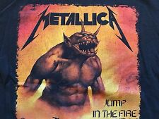 Vintage Metallica Shirt Jump In The Fire 90s Metallica tee Thrash Metal Black S