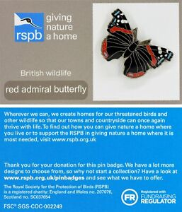 RSPB Pin Badge red admiral butterfly GNaH 02315