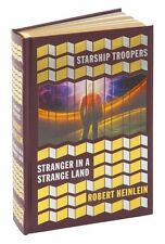 STARSHIP TROOPERS AND STRANGER IN A STRANGE LAND by Robert Heinlein LeatherBound