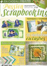 PASSION SCRAPBOOKING N°57 VOTRE ETE 100% CREATIF / ART JOURNAL / PAPIERS