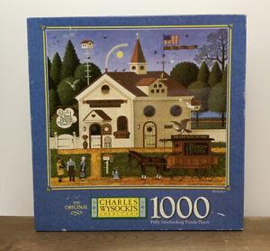 Vtg Sealed Charles Wysocki's BIRDSELLER PUZZLE 1000 Piece MB 2000 Americana