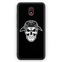 Totenkopf Bandana am Kopf Silikon Hülle für Xiaomi Redmi 8A Motiv Design Grun...