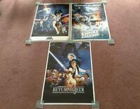 Star Wars Trilogy Large Poster Set. A New Hope, Empires Strikes Back, Jedi. NEW