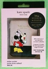 KATE SPADE MINNIE MOUSE PHONE STICKER POCKET:NWT NEW MINNIE MOTIF 8aru6680