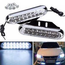 New listing 2x 16 Led Car Van Drl Day Driving Daytime Running Fog White Light Lamp Universal