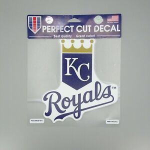 Kansas City Royals Primary Logo Perfect Cut Car Sticker Decal 8 x 8 Color