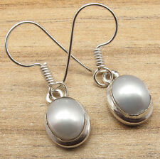 Plated Natural Water Pearl Deco Earrings Seasonal Fashion Jewelry ! 925 Silver