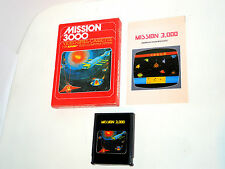 MISSION 3000 complete in box with manual atari 2600 videogame boxed