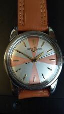 Vintage Ulysee Nardin Automatic 25 Jewel Wrist Watch With a Unique Military Dial